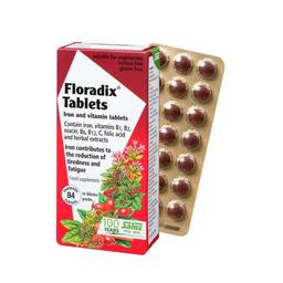 Herbal Blood Floradix, iron tablets and vitamins