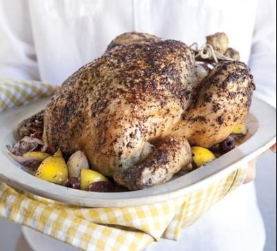 Chicken with lemon, fragrant sumac and yogurt.